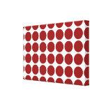 Lunares rojos en blanco lona estirada galerías