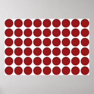 Lunares rojos en blanco póster