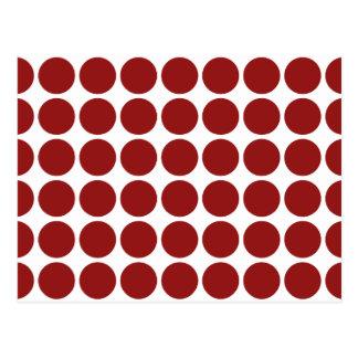 Lunares rojos en blanco tarjeta postal