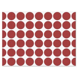 Lunares rojos en el papel seda blanco papel de seda grande