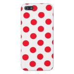 Lunares rojos iPhone 5 cárcasas