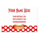 Lunares rojos lindos y diseño sabroso del bocado d tarjeta de visita