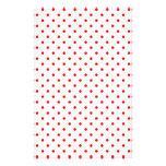 Lunares rojos minúsculos papeleria de diseño