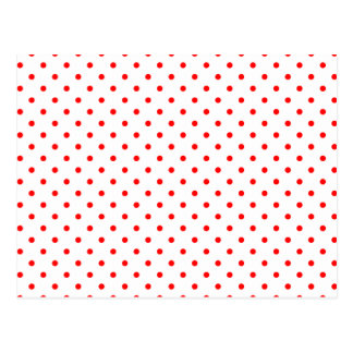 Lunares rojos minúsculos tarjetas postales