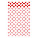 Lunares rojos papeleria personalizada
