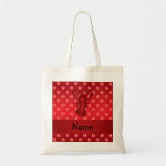 Lunares rojos personalizados del ancla de la lango bolsas