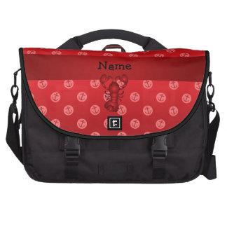 Lunares rojos personalizados del ancla de la lango bolsas de portátil