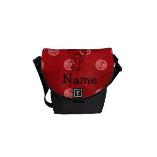 Lunares rojos personalizados del ancla de la lango bolsa de mensajería