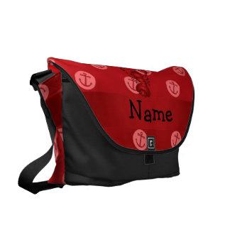 Lunares rojos personalizados del ancla de la lango bolsas de mensajería
