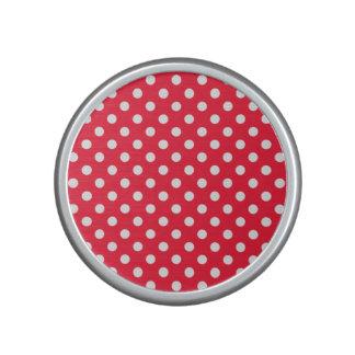 Lunares rojos y blancos altavoz bluetooth