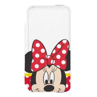 Lunares rojos y blancos de Minnie el | Funda Billetera Para iPhone 5 Watson