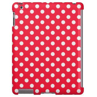 Lunares rojos y blancos funda para iPad