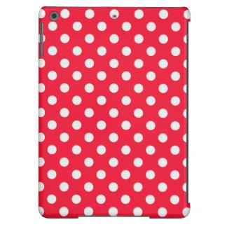 Lunares rojos y blancos funda para iPad air