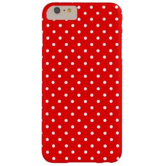 Lunares rojos y blancos funda para iPhone 6 plus barely there