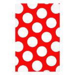 Lunares rojos y blancos grandes papelería personalizada