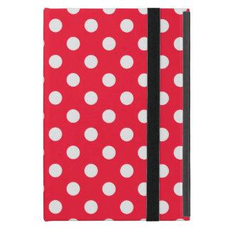 Lunares rojos y blancos iPad mini cárcasa