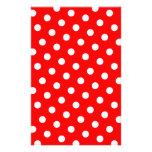 Lunares rojos y blancos papeleria personalizada