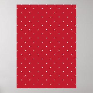 Lunares rojos y blancos póster