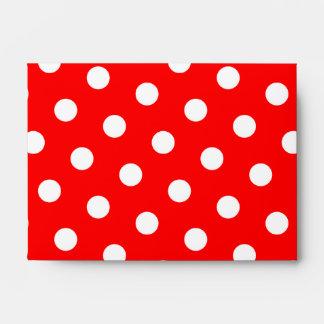 Lunares rojos y blancos sobres