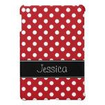 Lunares rojos y negros de muy buen gusto personali iPad mini cárcasa