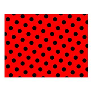 Lunares rojos y negros postales