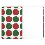 Lunares rojos y verdes en blanco cuadernos