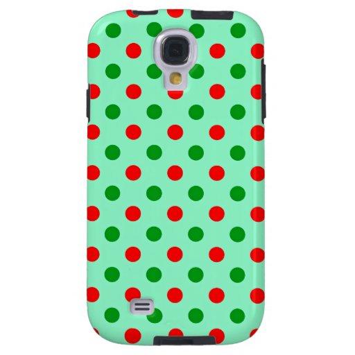 Lunares rojos y verdes