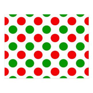 Lunares rojos y verdes postales