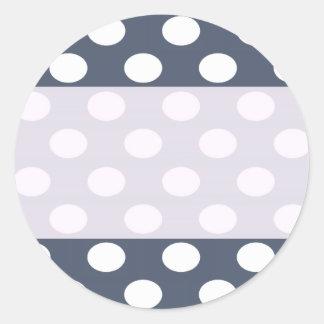 Lunares románticos modernos elegantes personalizad pegatina redonda