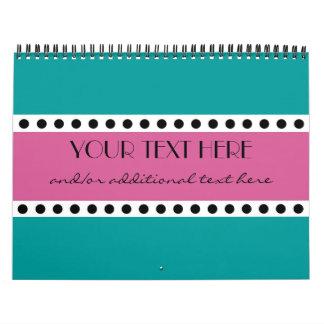Lunares rosados calendarios