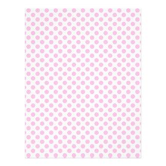 Lunares rosados con el fondo adaptable membrete