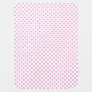 Lunares rosados con el fondo adaptable mantita para bebé