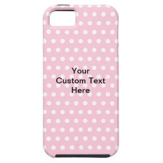 Lunares rosados, con el texto negro de encargo iPhone 5 fundas