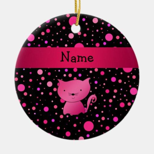 Lunares rosados conocidos personalizados del rosa  ornatos