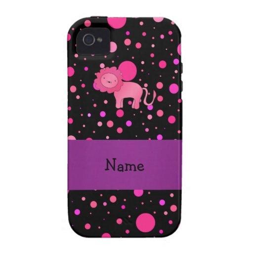 Lunares rosados conocidos personalizados del rosa iPhone 4/4S funda