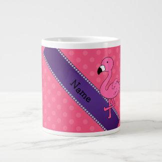 Lunares rosados conocidos personalizados del rosa  tazas extra grande