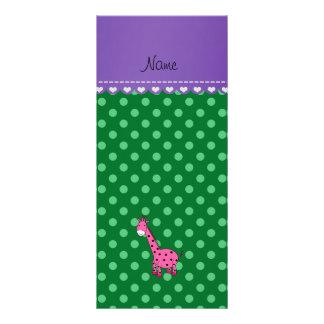 Lunares rosados conocidos personalizados del verde lonas personalizadas