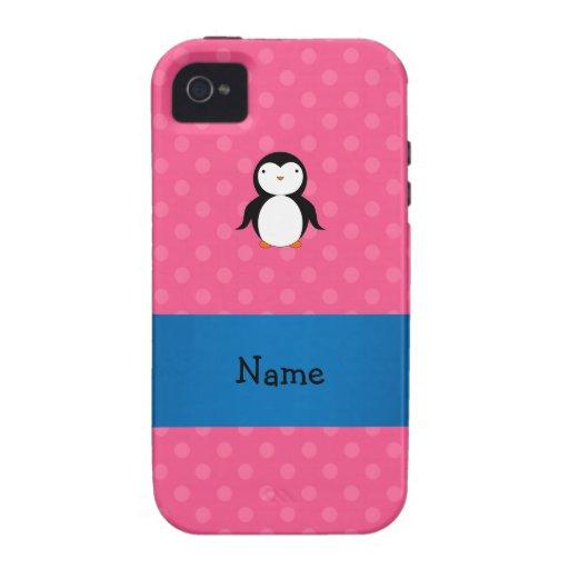 Lunares rosados conocidos personalizados iPhone 4 carcasa