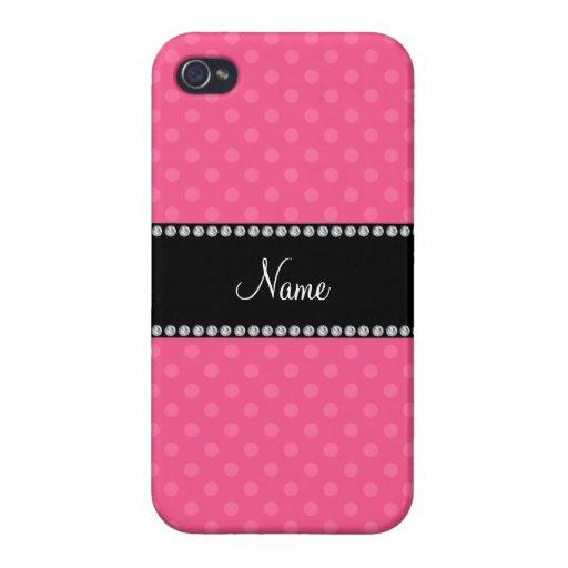 Lunares rosados conocidos personalizados iPhone 4 coberturas