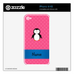 Lunares rosados conocidos personalizados skins para eliPhone 4