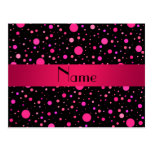 Lunares rosados conocidos personalizados tarjetas postales