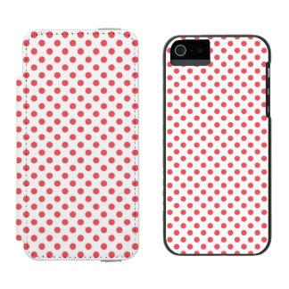 Lunares rosados coralinos de Shirley Taylor Funda Billetera Para iPhone 5 Watson