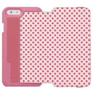 Lunares rosados coralinos de Shirley Taylor Funda Billetera Para iPhone 6 Watson