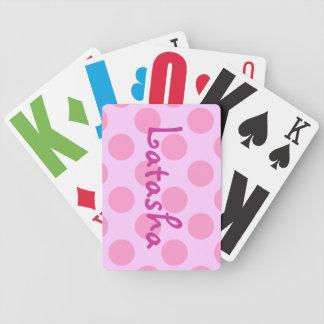 Lunares rosados de encargo cartas de juego