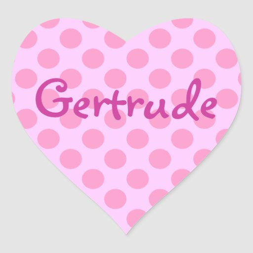 Lunares rosados de encargo pegatina en forma de corazón