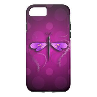 ¡Lunares rosados de la mosca del dragón! Funda iPhone 7