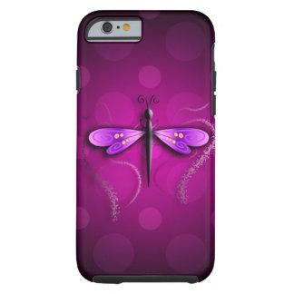 ¡Lunares rosados de la mosca del dragón! Funda Para iPhone 6 Tough