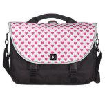 Lunares rosados de los corazones bolsas de ordenador