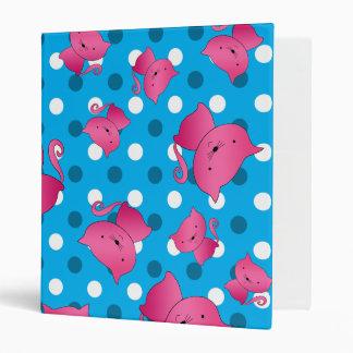 Lunares rosados del azul de cielo de los gatos