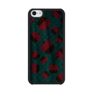 Lunares rosados del azul de las magdalenas funda de iPhone 5C slim nogal